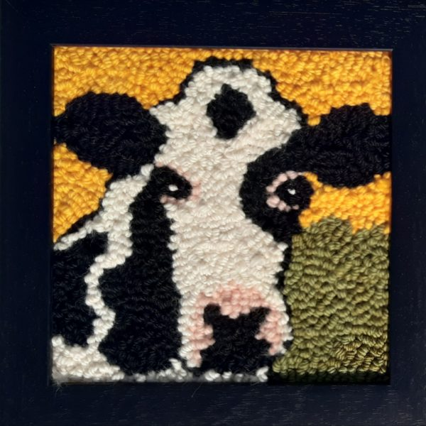 Black and White Punched Cow