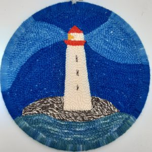 Punch Needle Lighthouse Flat Stitches