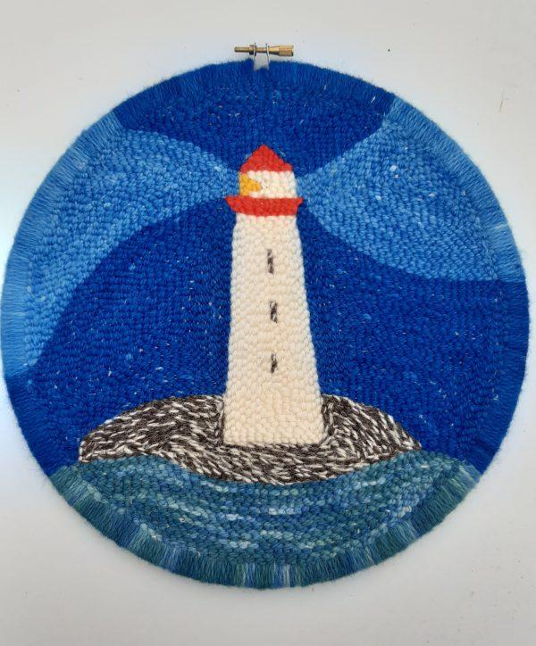 Punch Needle Lighthouse Flat Stitches