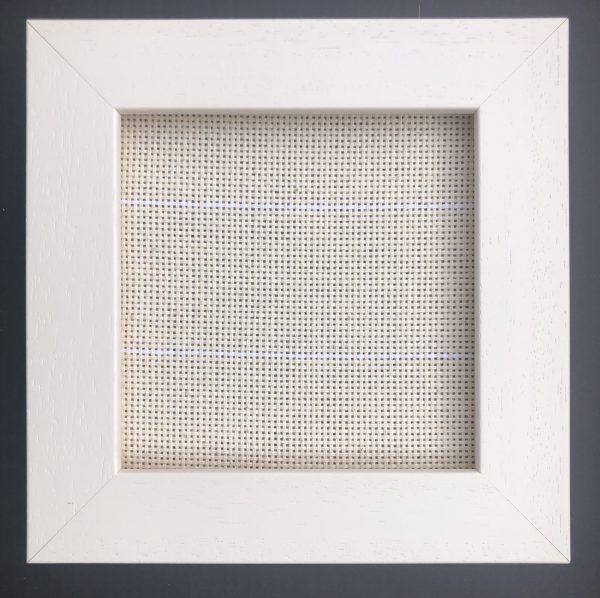 limed white frame, 1 inch square frame 0.5 inch depth