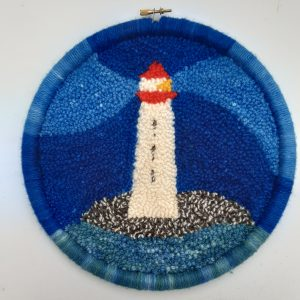 Punch Needle Kit Lighthouse Loopy Side