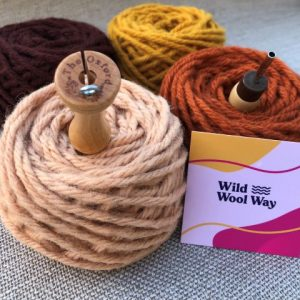 Earth Yarn Pack showing also recommended needles